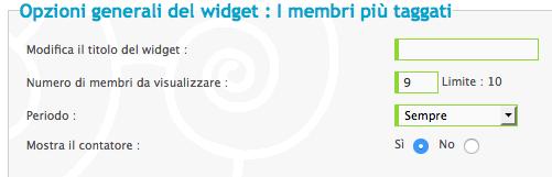 Widget: I membri più taggati e gli Hashtag più popolari! Scherm12