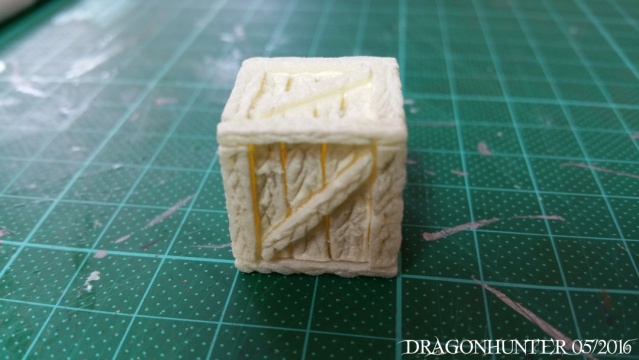 How to make crates and barrels with polystyrene 1112