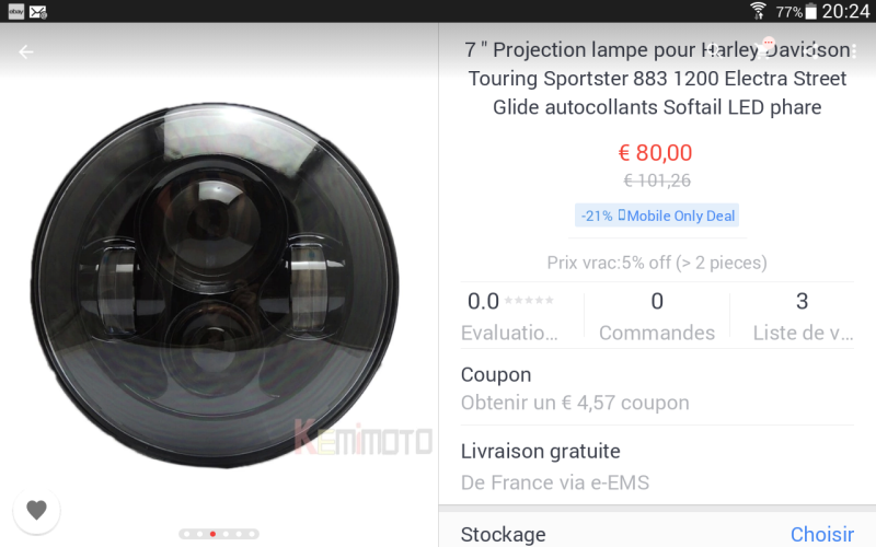 "PHARE 7"" LEDS ( plus en vente) Screen10"