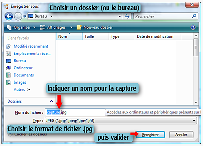 Faire une capture d'écran (screen-shot) Paint313