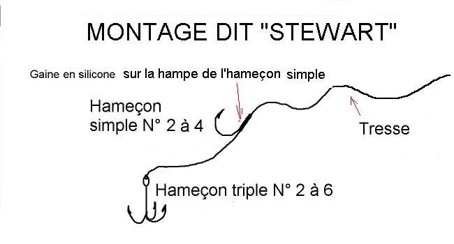 Pêche au vif -Montage Stewart Stewar10