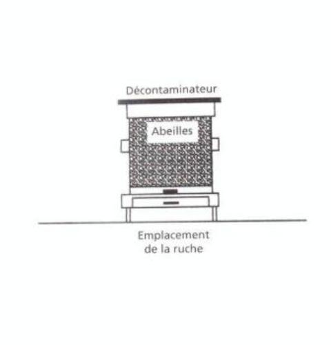 Ruche écologique et barrettes: Lutte VARROAS Dsc01115