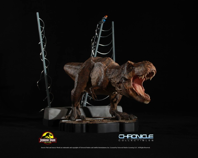 Figurine T-Rex Jurassic Park par Chronicle Collectibles  Figuri14