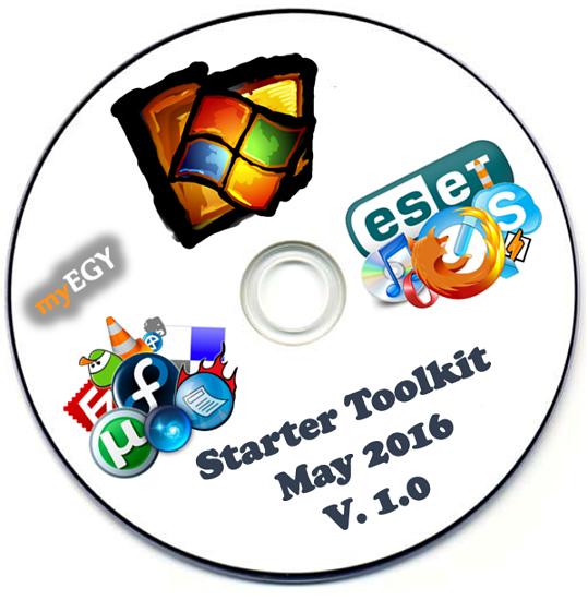 الإصدار الأول لاسطوانة البرامج الهامة بعد تسطيب الويندوز Starter Toolkit May 2016 v1.0 0qdzb910