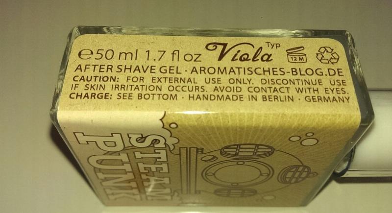Gros plan sur le Gel Aftershave Tabula Rasa Steampunk Imag1919