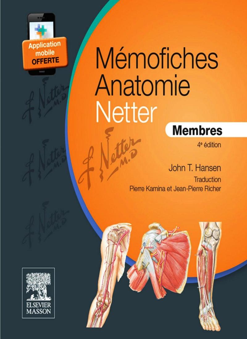 MÉMOFICHES ANATOMIE NETTER - MEMBRES 4ème édition  000110