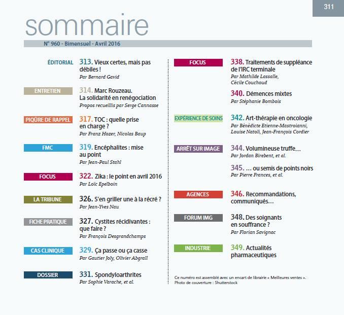 Revue du praticien - Médecine générale N° 960 13124910