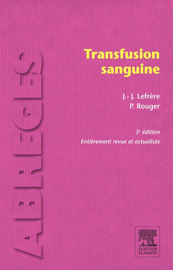 transfusion sanguine 5ème édition  13177910