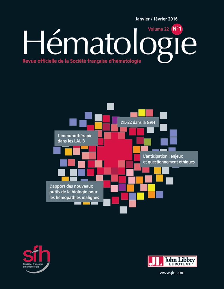 Hématologie  Janvier-Février 2016   Image11