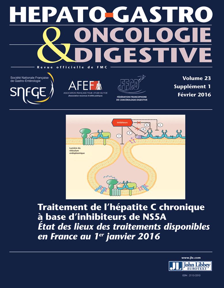 Hépato-Gastro & Oncologie Digestive février 2016 supplément Image_10