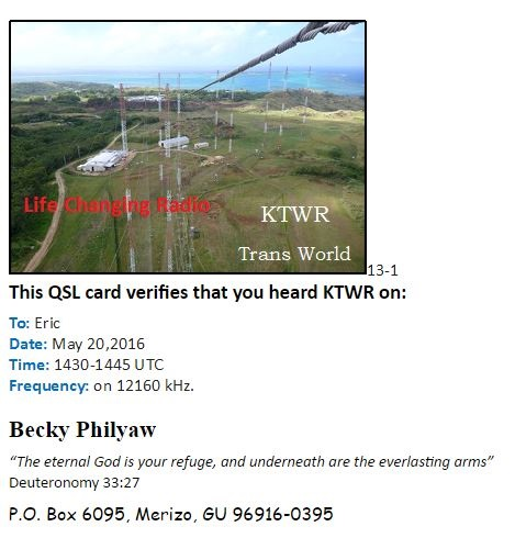 eQSL de KTWR (Guam) Ktwr10
