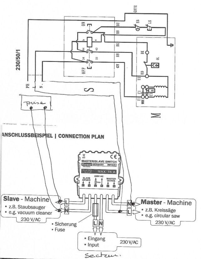 Branchement module maître / esclave Captur10