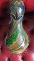 """Belgian ? pottery large hand cut vase with a fish backstamp 17.5"""" Img_2059"""