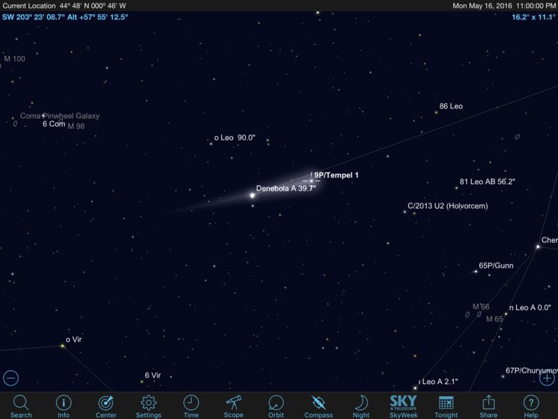 Comète 9P/Tempel 1 Image11