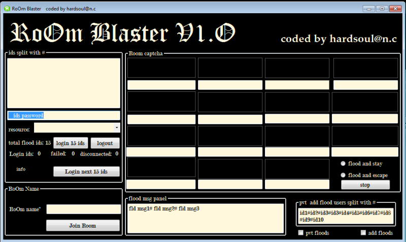 RoOm blasterv1.0 ( add + pvt flood with enter and auto flood  Roombl10