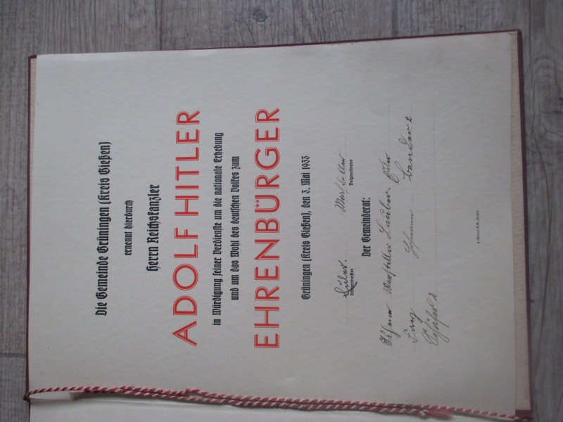 """Livret : """"Ehren Brief"""" de 1933 Img_3019"""