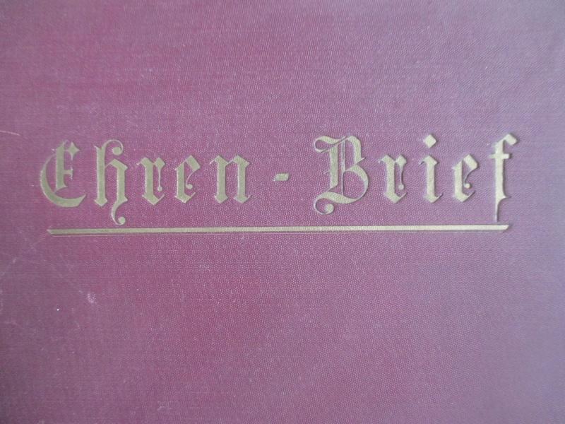 """Livret : """"Ehren Brief"""" de 1933 Img_3020"""