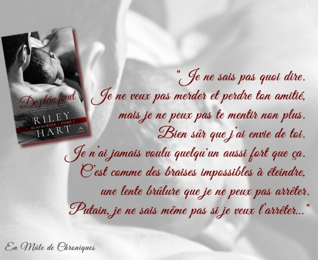 Rilzy hart - The Blackcreek Series - Tome 1 : De plein fouet de Riley Hart De_ple13