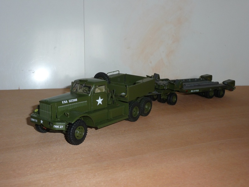 U.S. M19 TANK TRANSPORTER with hard top cab + remorque porte char 1/35  P1060722