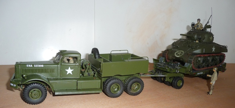 U.S. M19 TANK TRANSPORTER with hard top cab + remorque porte char 1/35  P1060723