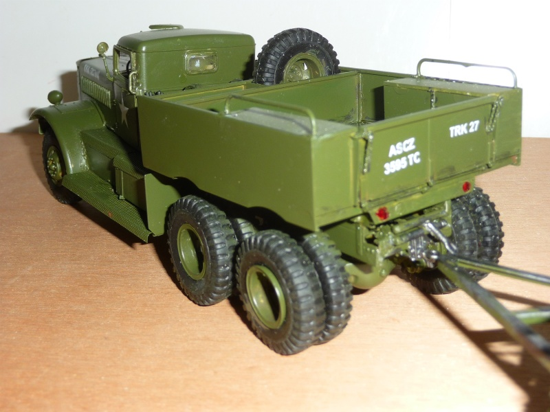 U.S. M19 TANK TRANSPORTER with hard top cab + remorque porte char 1/35  P1060724