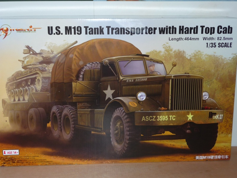 U.S. M19 TANK TRANSPORTER with hard top cab + remorque porte char 1/35  P1060725
