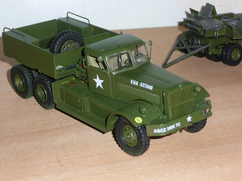 U.S. M19 TANK TRANSPORTER with hard top cab + remorque porte char 1/35  P1060727
