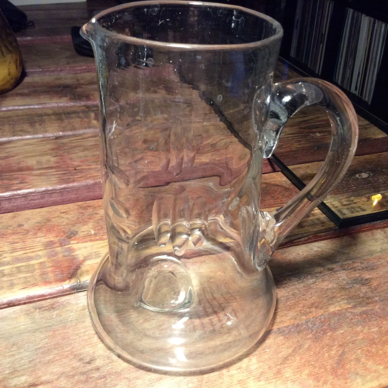 Blown glass jug with etched pattern. Any ideas? Image32