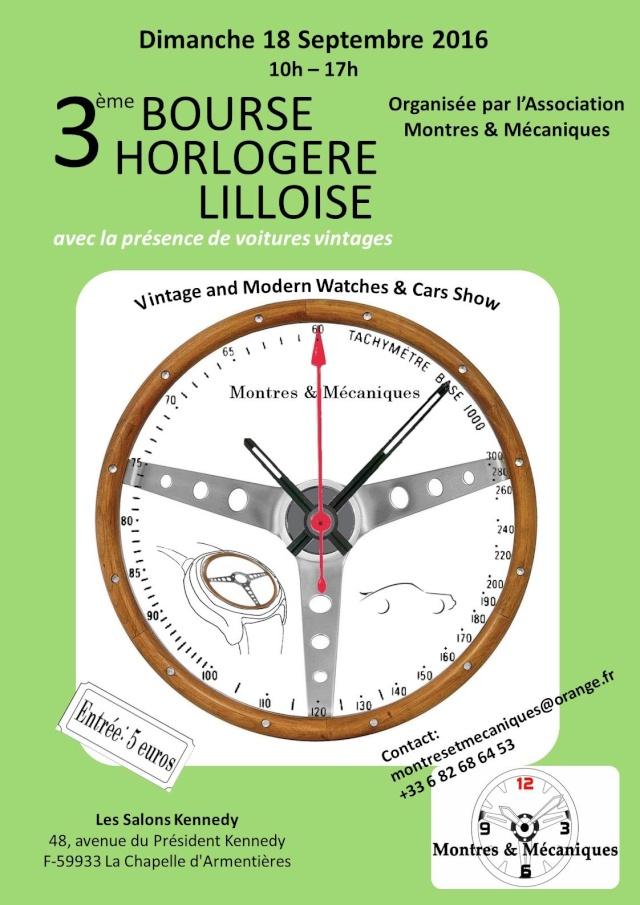 3ème Bourse Horlogère Internationale sur Lille le 18 septembre 2016 Affich11