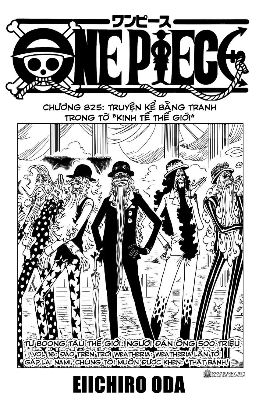One Piece Chapter 825: Truyện kể bằng tranh trong tờ  0110