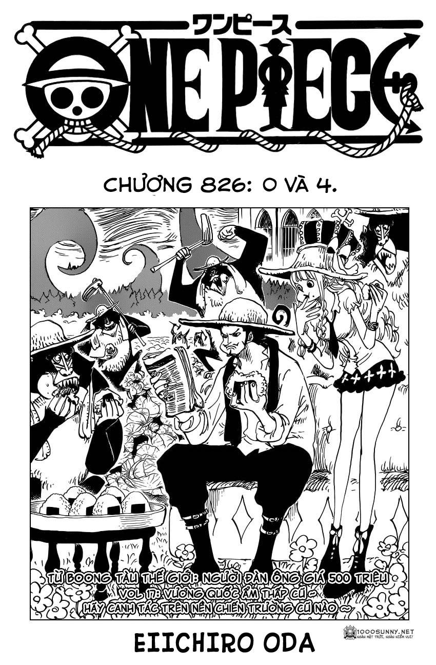 One Piece Chapter 826: 0 và 4 0111