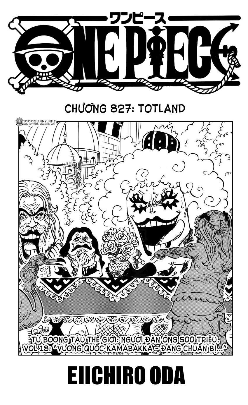 One Piece Chapter 827: TOTLAND - Đất nước cho tất cả! 0112