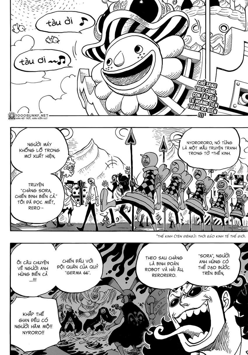 One Piece Chapter 825: Truyện kể bằng tranh trong tờ  0210