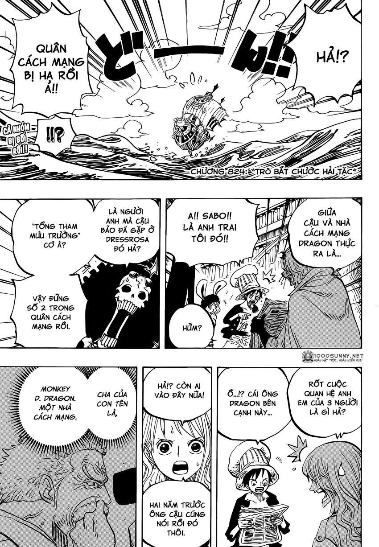 One Piece Chapter 824: Trò bắt chước Hải tặc 0310