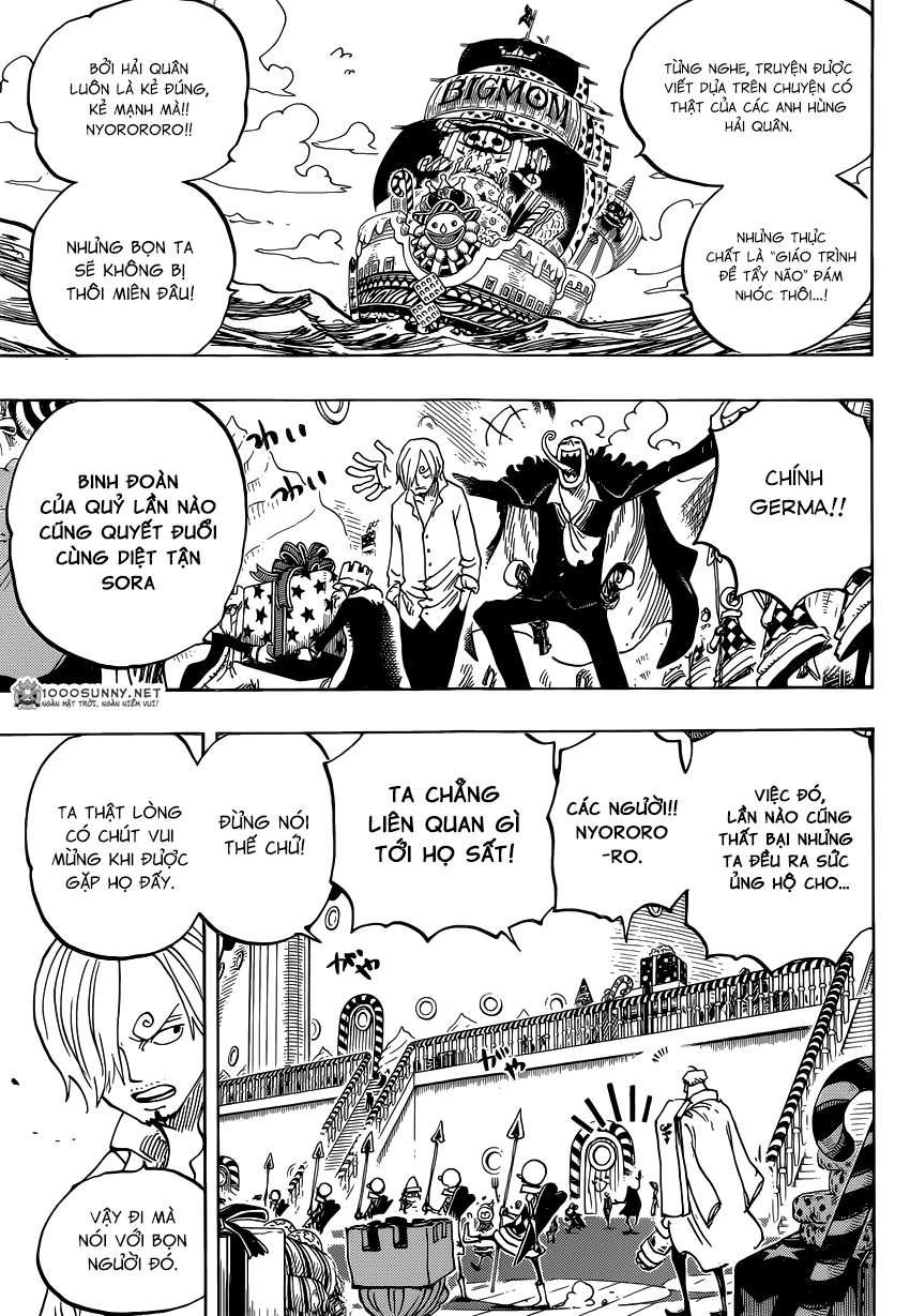 One Piece Chapter 825: Truyện kể bằng tranh trong tờ  0312