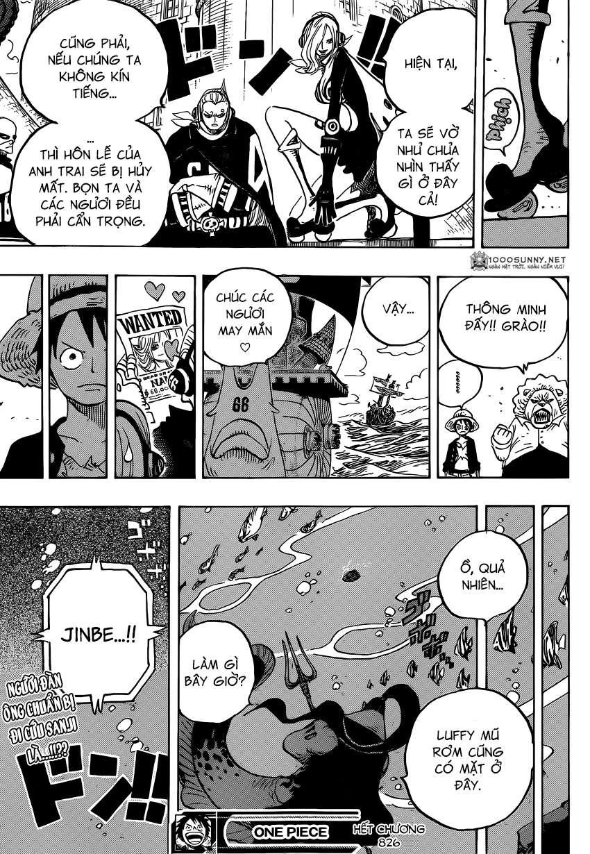 One Piece Chapter 826: 0 và 4 1711