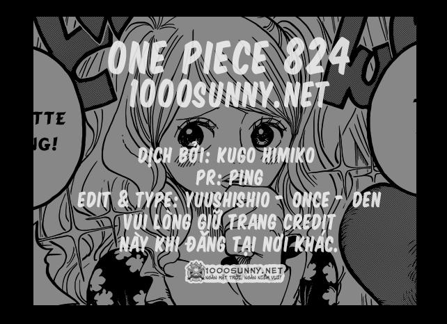 One Piece Chapter 824: Trò bắt chước Hải tặc Credit10