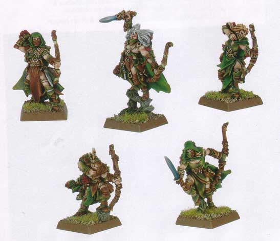 Equivalence figurines KoW Warhammer Hauts Elfes + sylvains = Elfes 92-3910