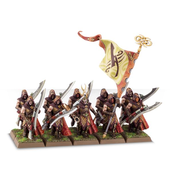 Equivalence figurines KoW Warhammer Hauts Elfes + sylvains = Elfes 99120212
