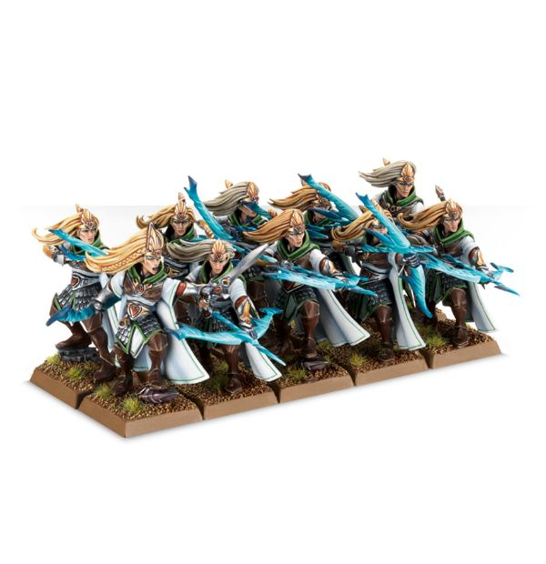 Equivalence figurines KoW Warhammer Hauts Elfes + sylvains = Elfes 99120214