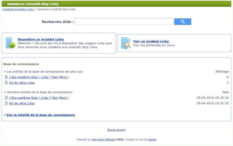Assistance Collectifs Stop Linky, afin de répertorier l'ensemble des incidents Linky vécus par les utilisateurs 13123410