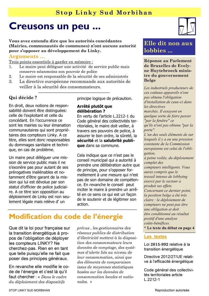 Linky - Infos-droit - Stop aux idées reçues - Aucune directive européenne n'impose le LINKY … ! P210