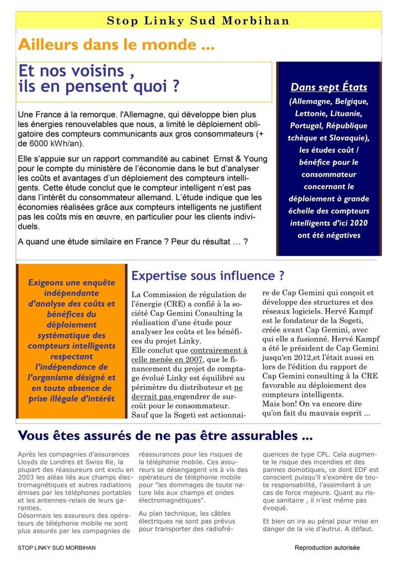 Linky - Infos-droit - Stop aux idées reçues - Aucune directive européenne n'impose le LINKY … ! P310