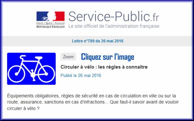 """La lettre N° 789 de """"Service Public"""" pour le 26 Mai  2016 78910"""
