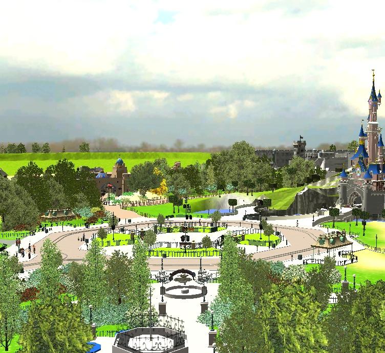 Recreation de Disneyland Paris (creation+importation) - Page 2 Shot0136