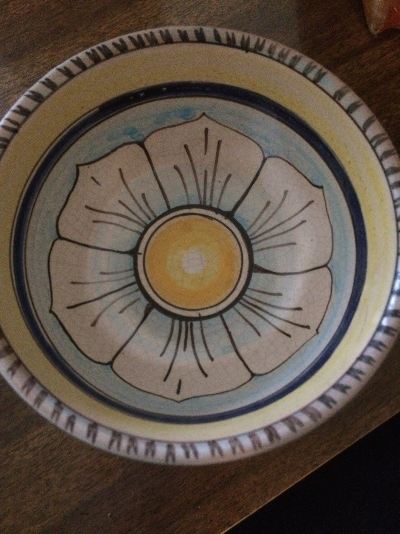 Please help me with this studio pottery flower bowl with signature Img_3910