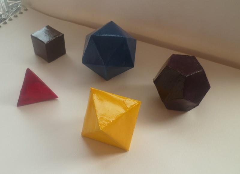 Les solides de Platon Solide12