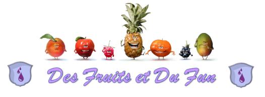 """Présentation """"Des Fruits et Du Fun"""" Guilde11"""