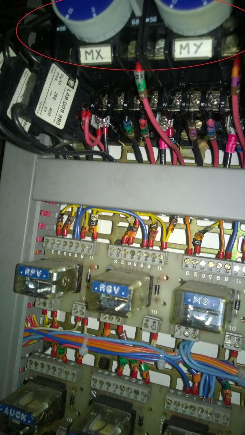 Identification bouton pupitre et éléments armoire electrique Wp_20113