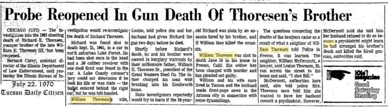 The death of Richard Thoresen Thores11
